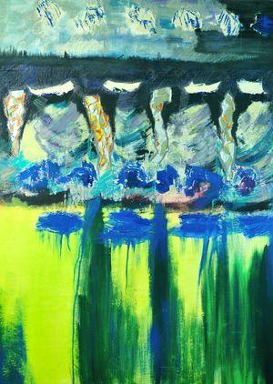 Photo de la toile « Panache » de Jozée Breton
