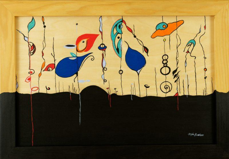 Toile « Aquarium Aérien 3 » de l'artiste Jozée Breton