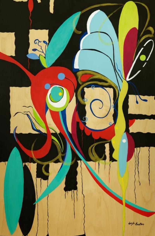 Toile « Arabesque » de l'artiste Jozée Breton