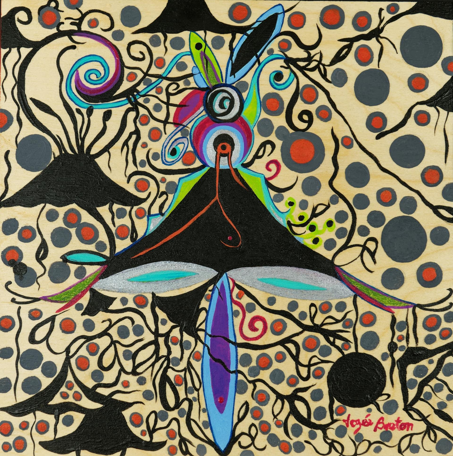 Toile « Ballerinos Lapinos » de l'artiste Jozée Breton