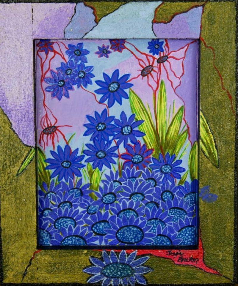Toile « Nuit bleue » de l'artiste Jozée Breton