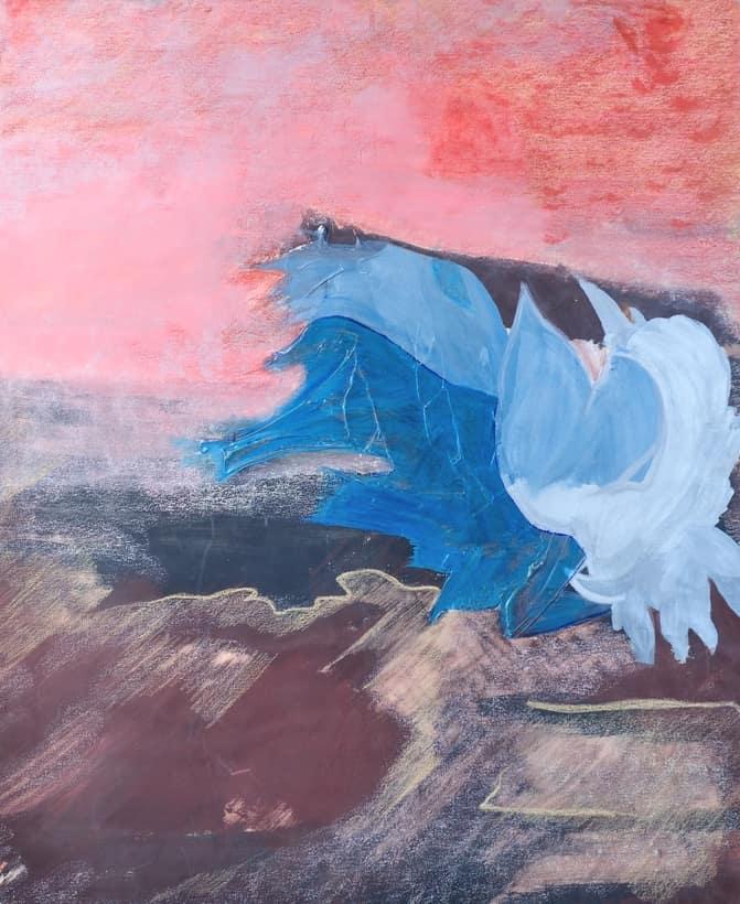 Toile « Peace & Love » de l'artiste Jozée Breton