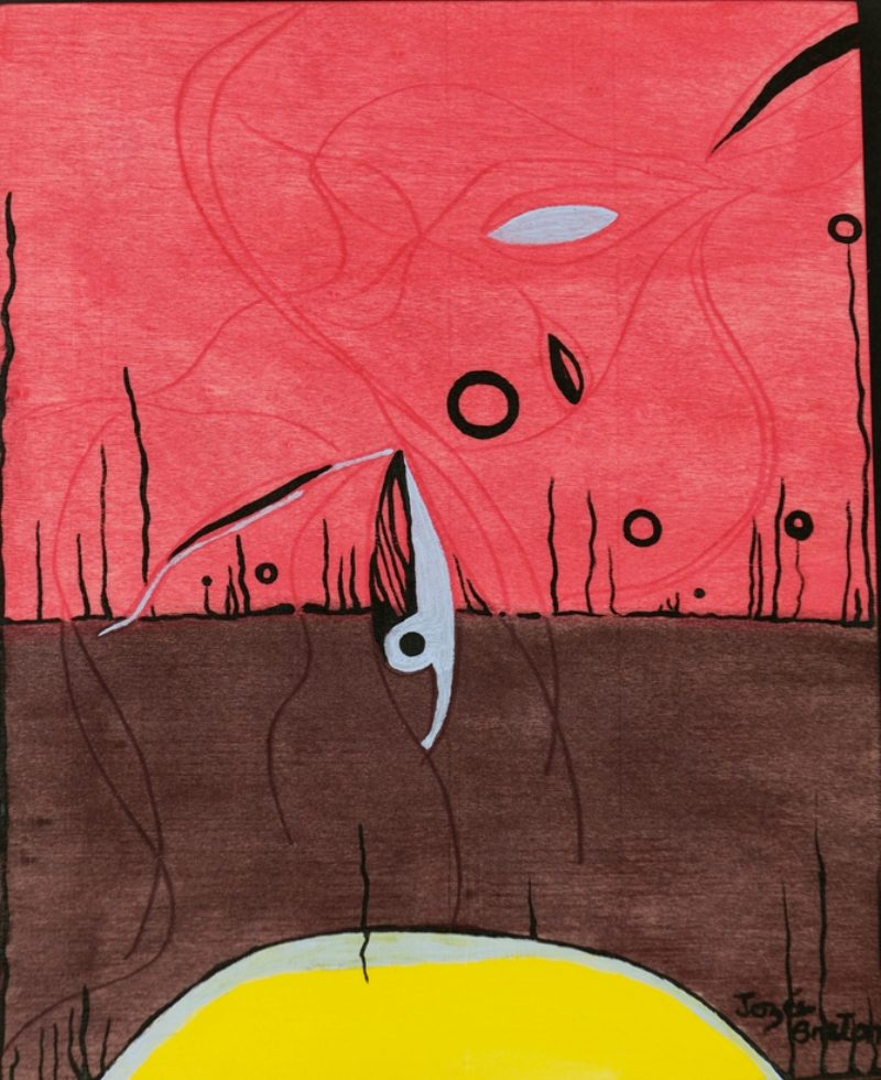 Toile « Plongeur » de l'artiste Jozée Breton