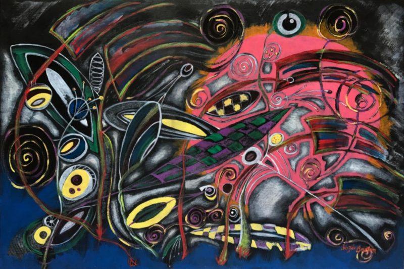 Toile « Réflexion Complexe » de l'artiste Jozée Breton