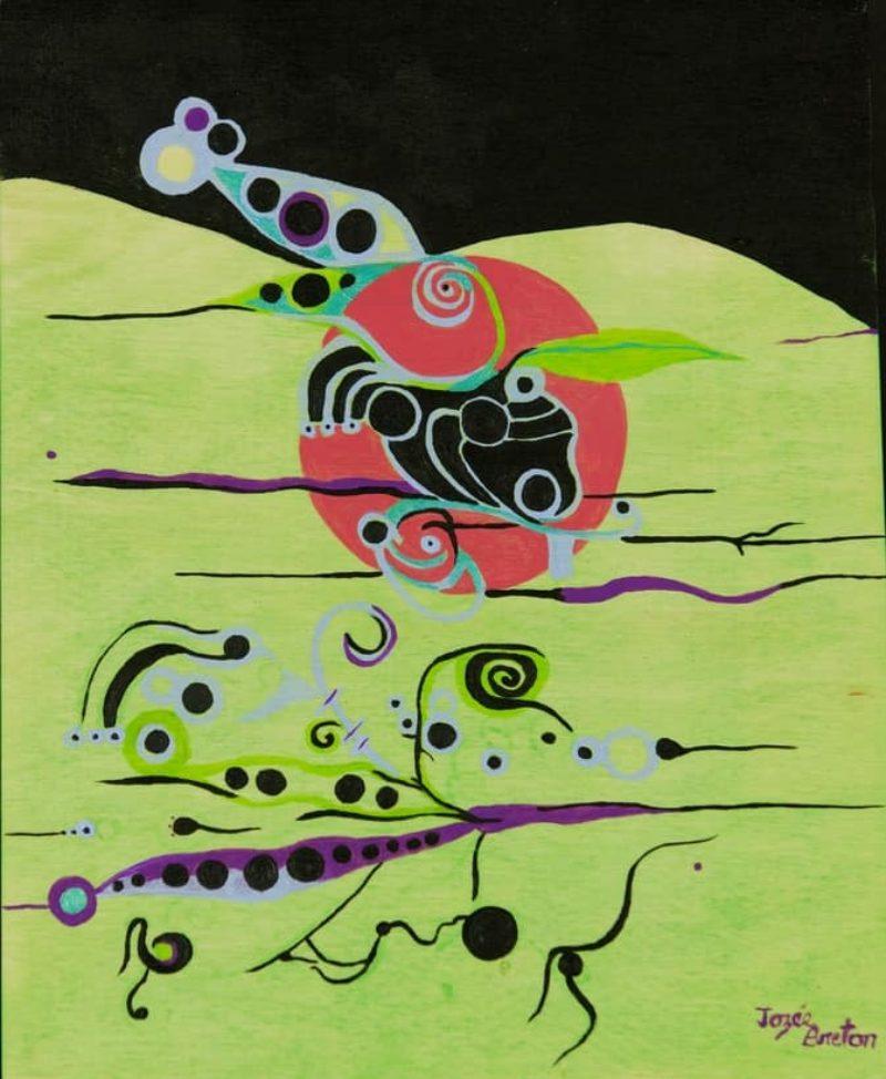 Toile « Safari d'insectes » de l'artiste Jozée Breton